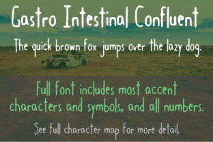 Gastro Intestinal Confluent Font By Quick Brown Fox Fonts