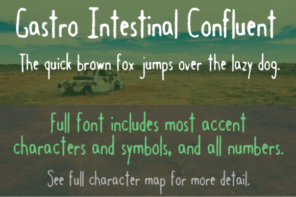 Print on Demand: Gastro Intestinal Confluent Decorative Font By Quick Brown Fox Fonts