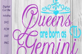 Download Free Gemini Queen Script Gemini Queen Word Art Graphic By for Cricut Explore, Silhouette and other cutting machines.