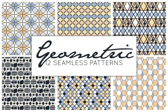 Download Free Geometric Patterns Digital Papers Digital Patterns Graphic for Cricut Explore, Silhouette and other cutting machines.