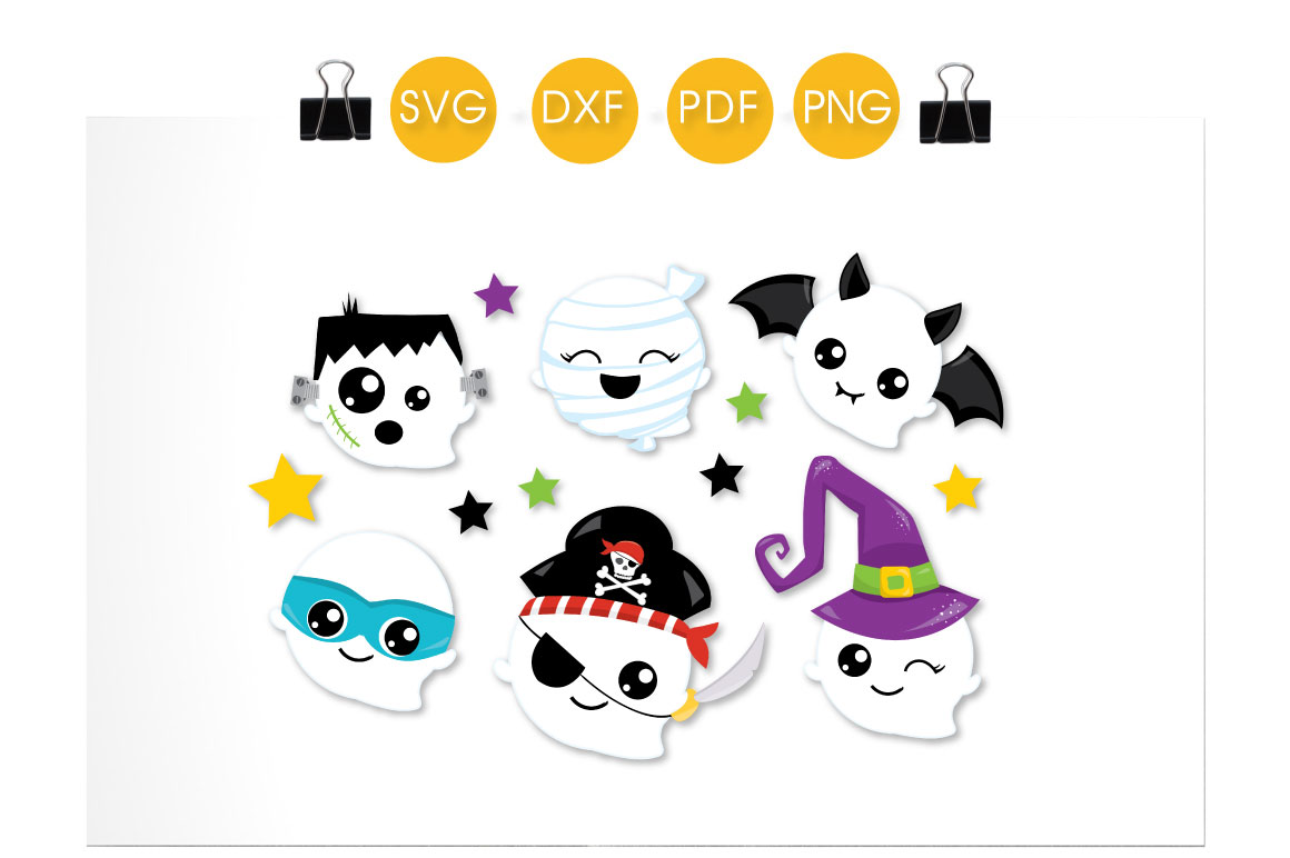 Ghost Dress Up Graphic Crafts By PrettyCuttables - Image 2