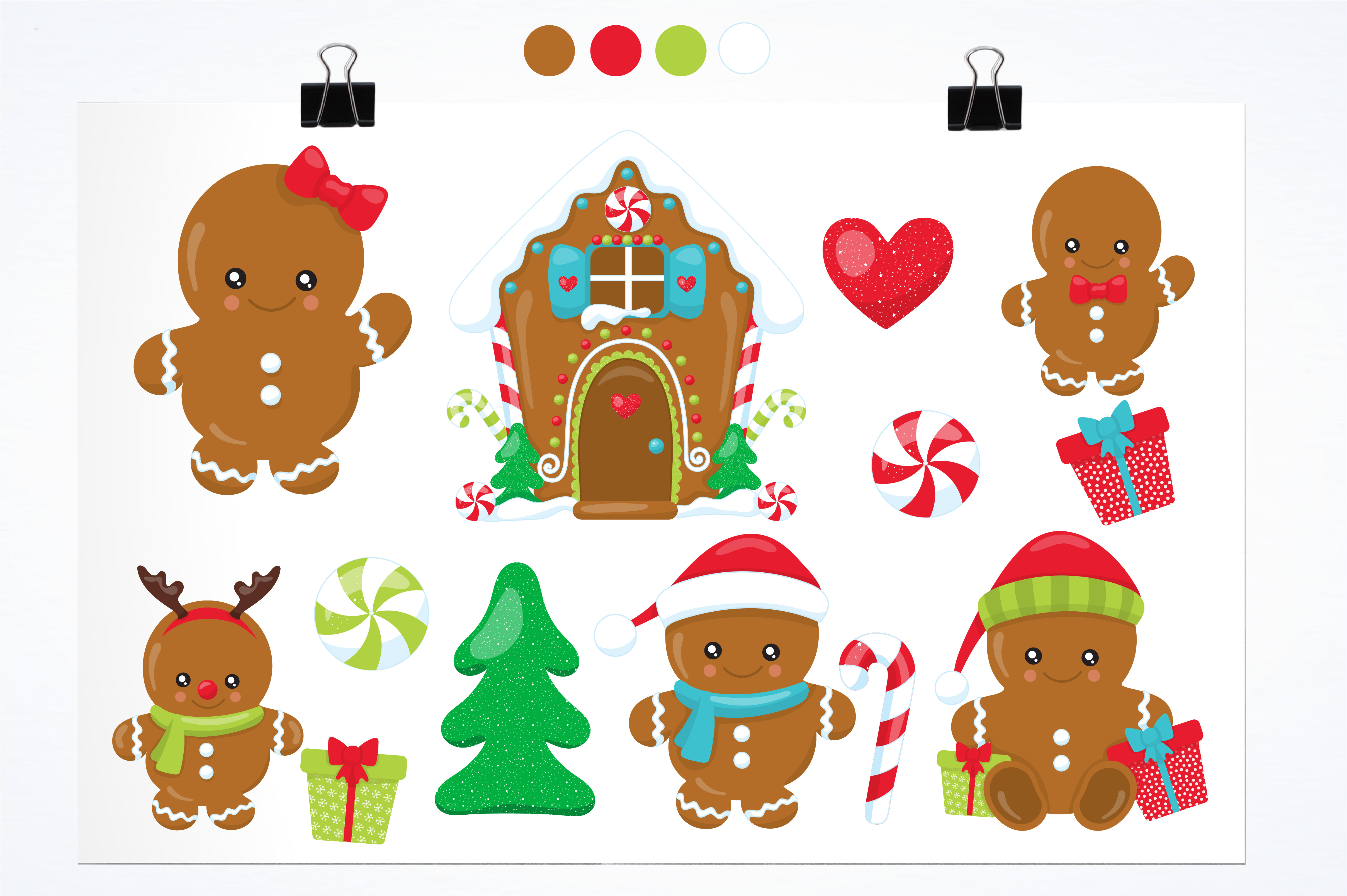 Download Free Ginger Babies Graphic By Prettygrafik Creative Fabrica for Cricut Explore, Silhouette and other cutting machines.