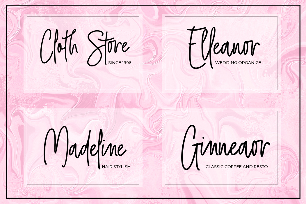 Print on Demand: Girly Style Script & Handwritten Font By akrtype - Image 5