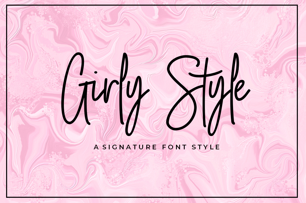 Print on Demand: Girly Style Script & Handwritten Font By akrtype - Image 1