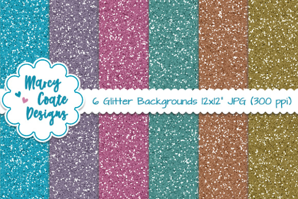 Glitter Backgrounds - Jewel Tones Graphic Illustrations By MarcyCoateDesigns