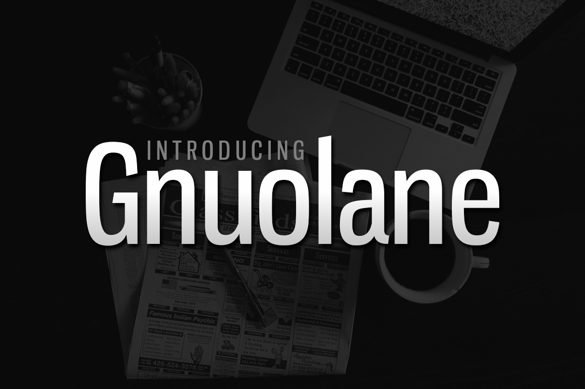 Print on Demand: Gnuolane Sans Serif Font By Typodermic