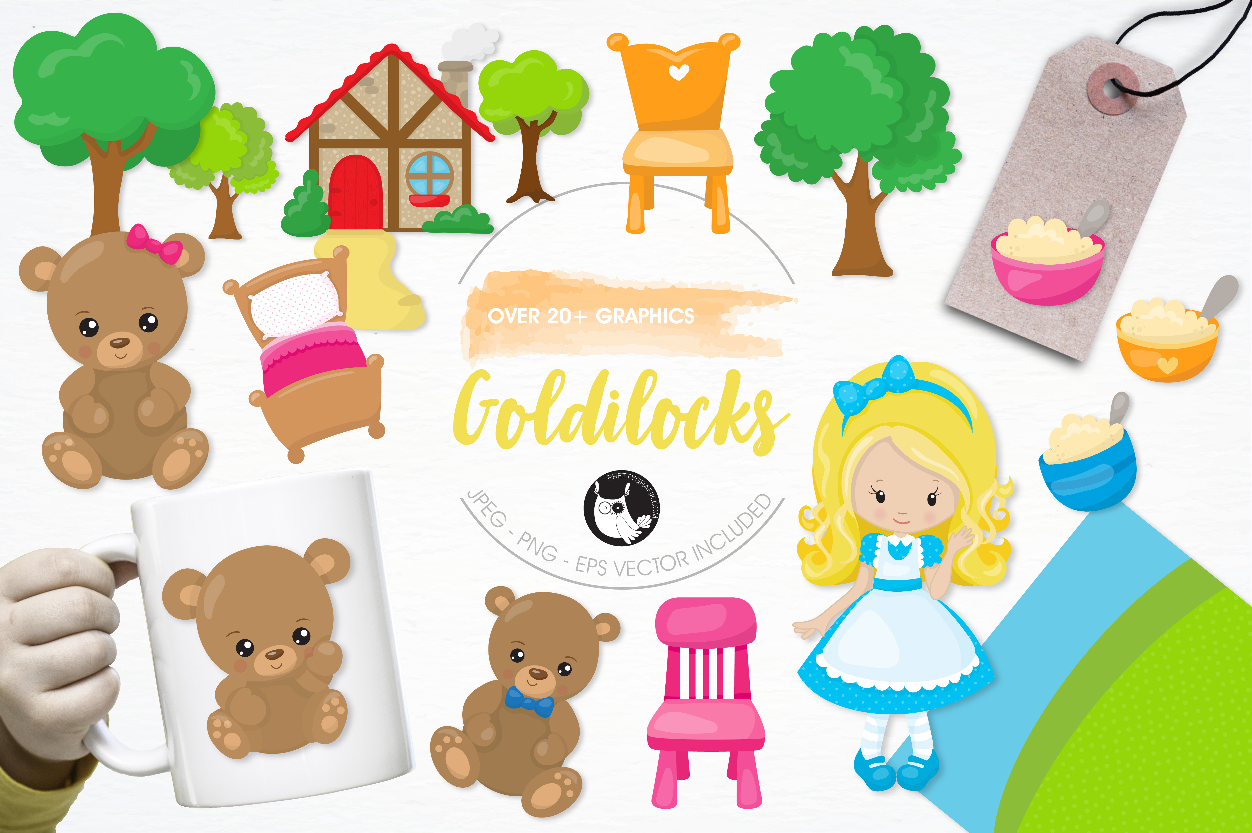 Print on Demand: Goldilocks Graphic Illustrations By Prettygrafik