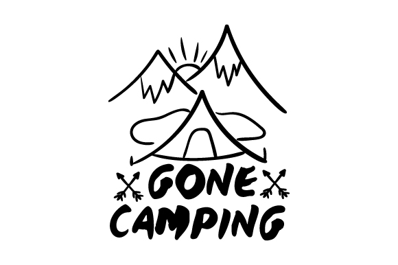 Download Free Gone Camping Svg Cut File By Creative Fabrica Crafts Creative for Cricut Explore, Silhouette and other cutting machines.