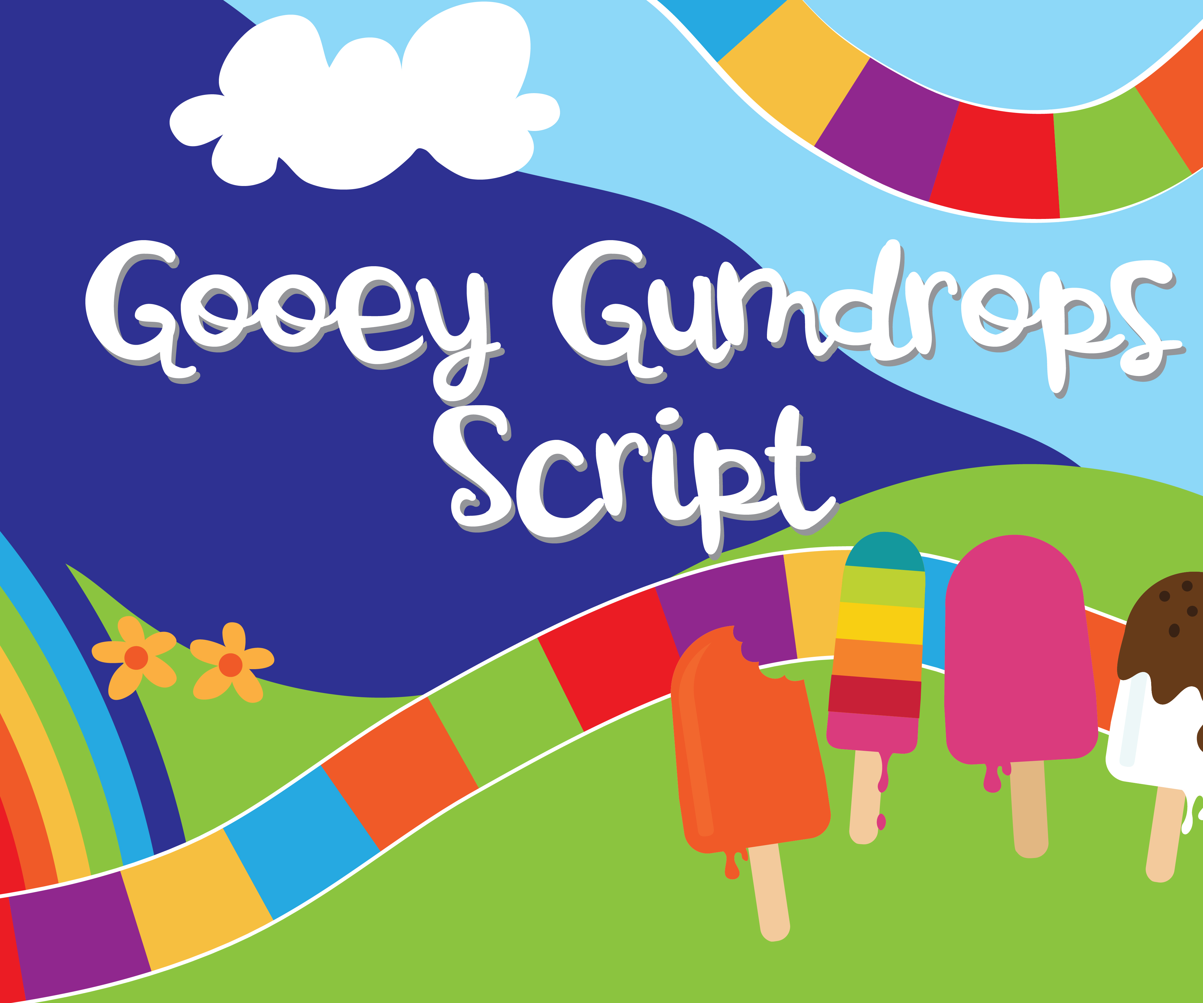 Print on Demand: Gooey Gumdrops Script Script & Handwritten Font By Illustration Ink