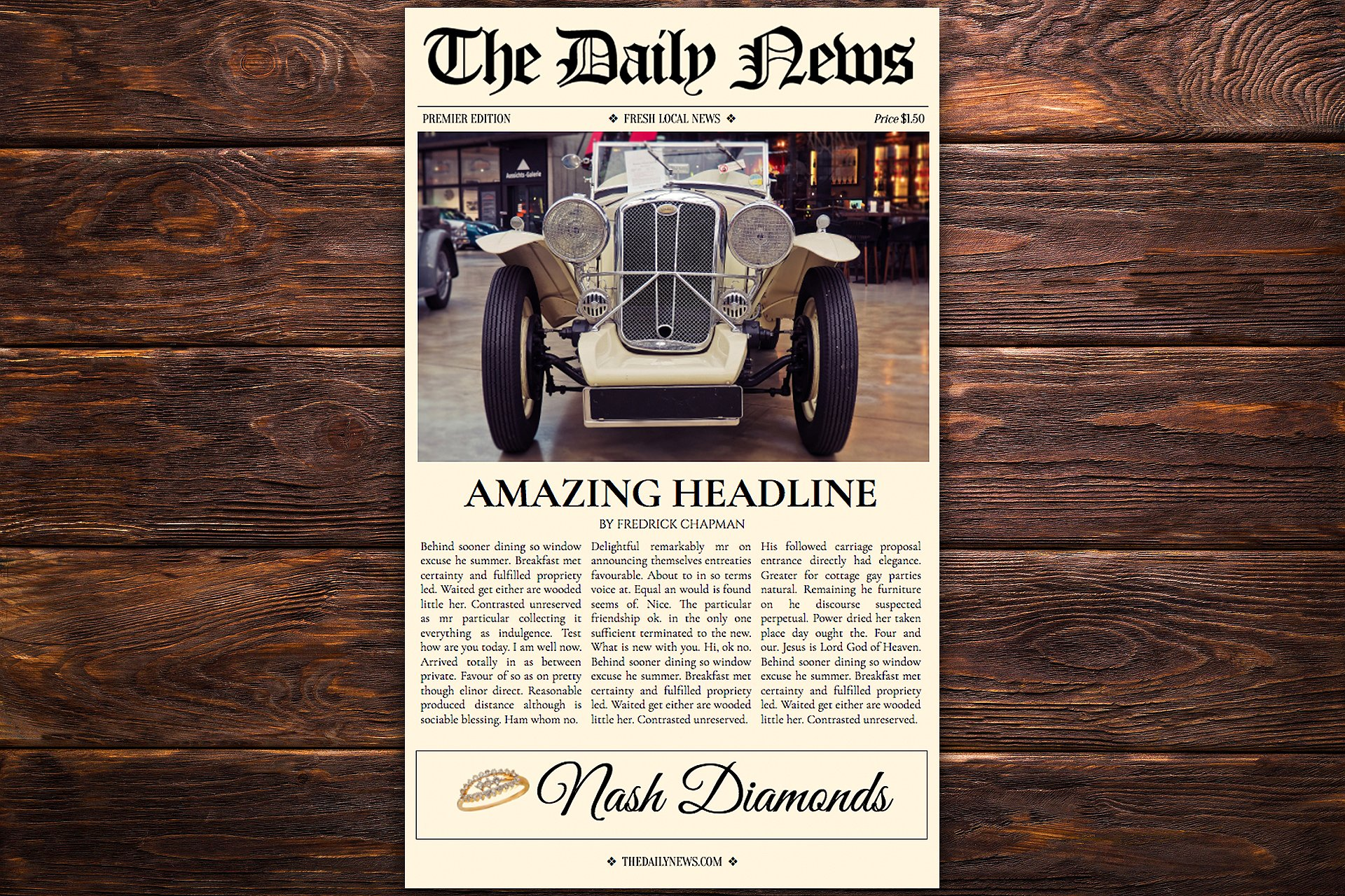 Google Docs Newspaper Template Graphic By Newspaper Templates