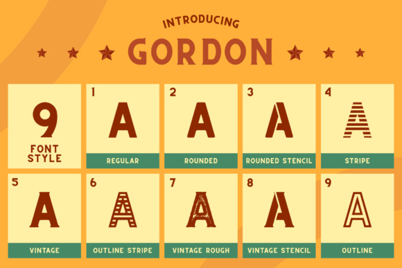 Print on Demand: Gordon Display Font By craftsupplyco