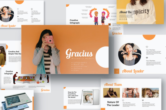 Print on Demand: Gracius Illustration Presentation Graphic Presentation Templates By Temp here