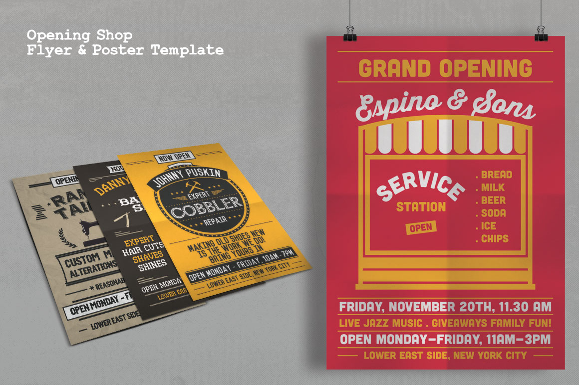 Download Free Grand Opening Studio Flyer Poster Graphic By Tiar Prayoga for Cricut Explore, Silhouette and other cutting machines.