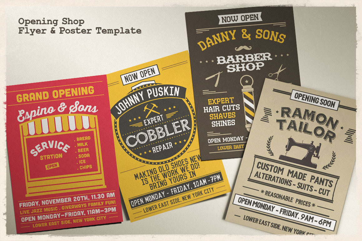 Print on Demand: Grand Opening Studio Flyer & Poster Graphic Print Templates By Tiar Prayoga