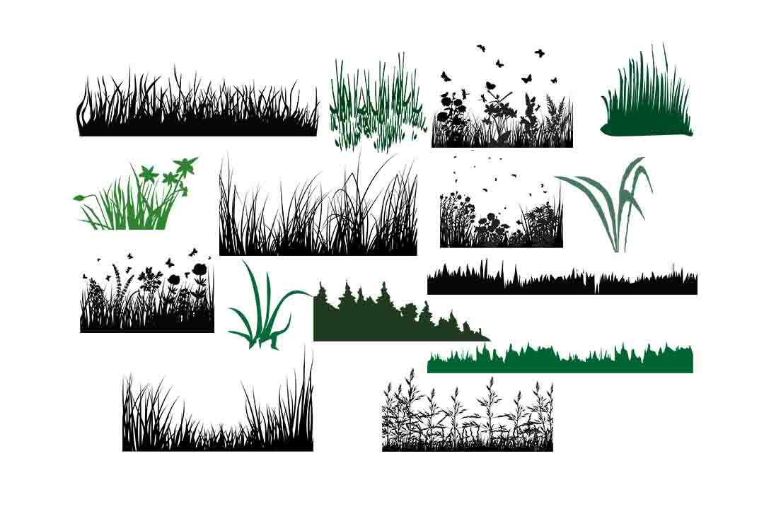 Download Free Grass Silhouette Graphic By Retrowalldecor Creative Fabrica for Cricut Explore, Silhouette and other cutting machines.