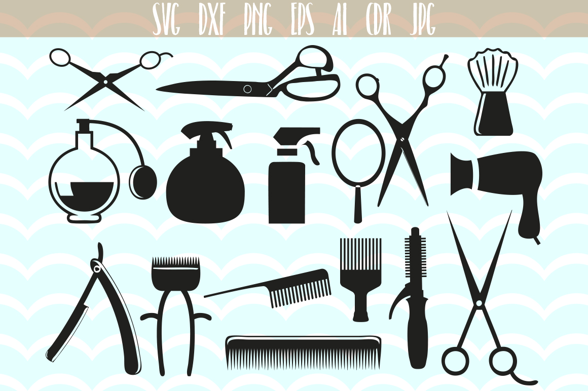 Download Free Hairstylist Clip Art Svg Graphic By Vector City Skyline for Cricut Explore, Silhouette and other cutting machines.