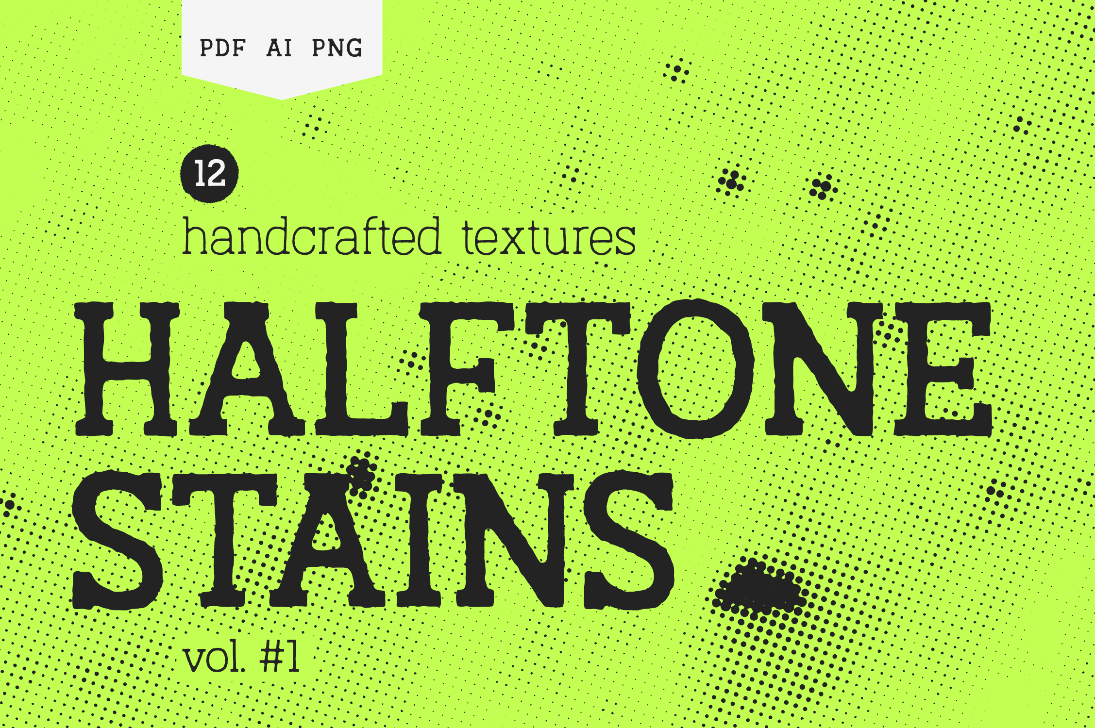 Halftone Stains Vol.#1 Texture Pack Graphic By antipixel Image 1