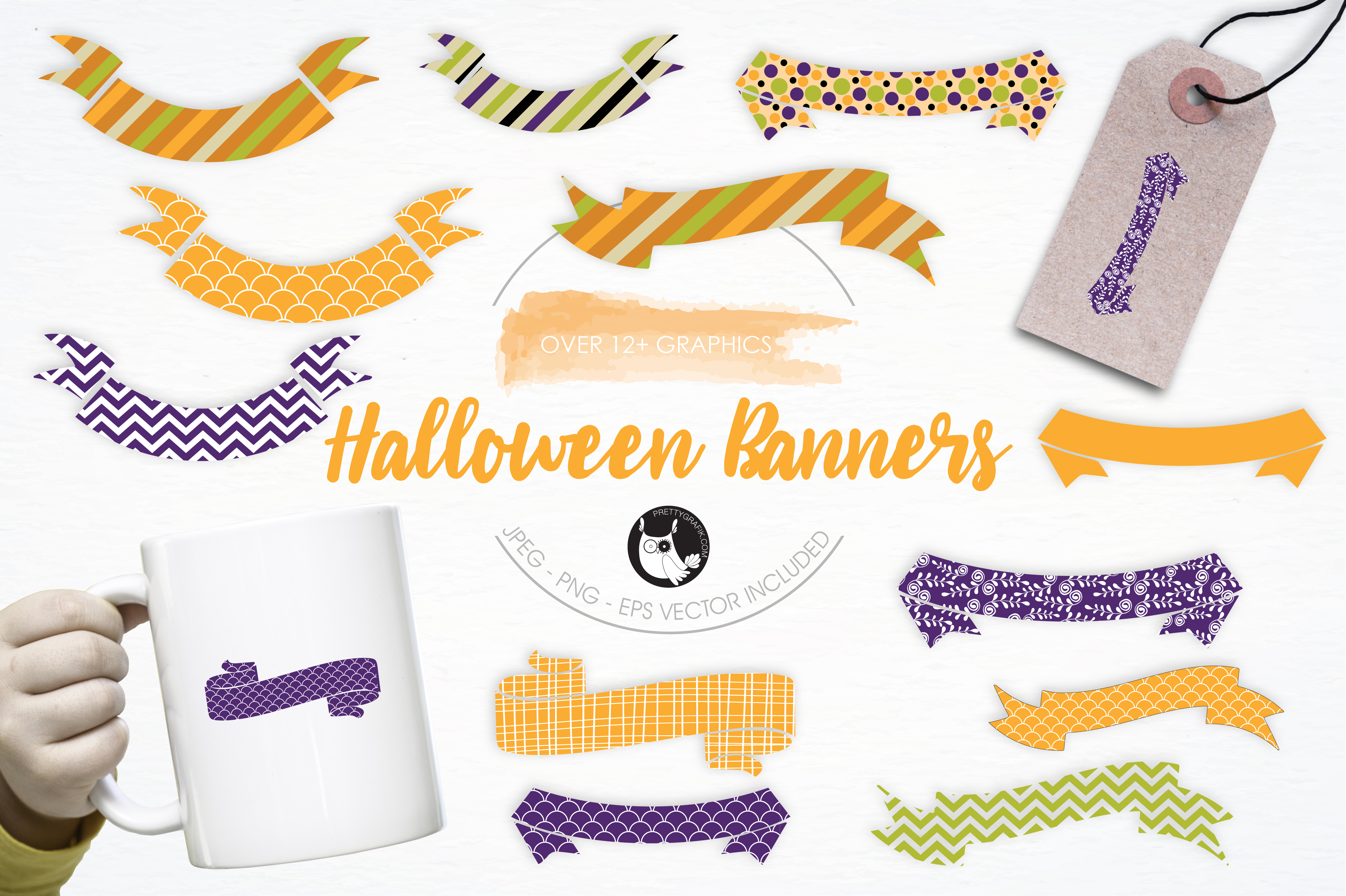 Print on Demand: Halloween Banners Graphic Illustrations By Prettygrafik