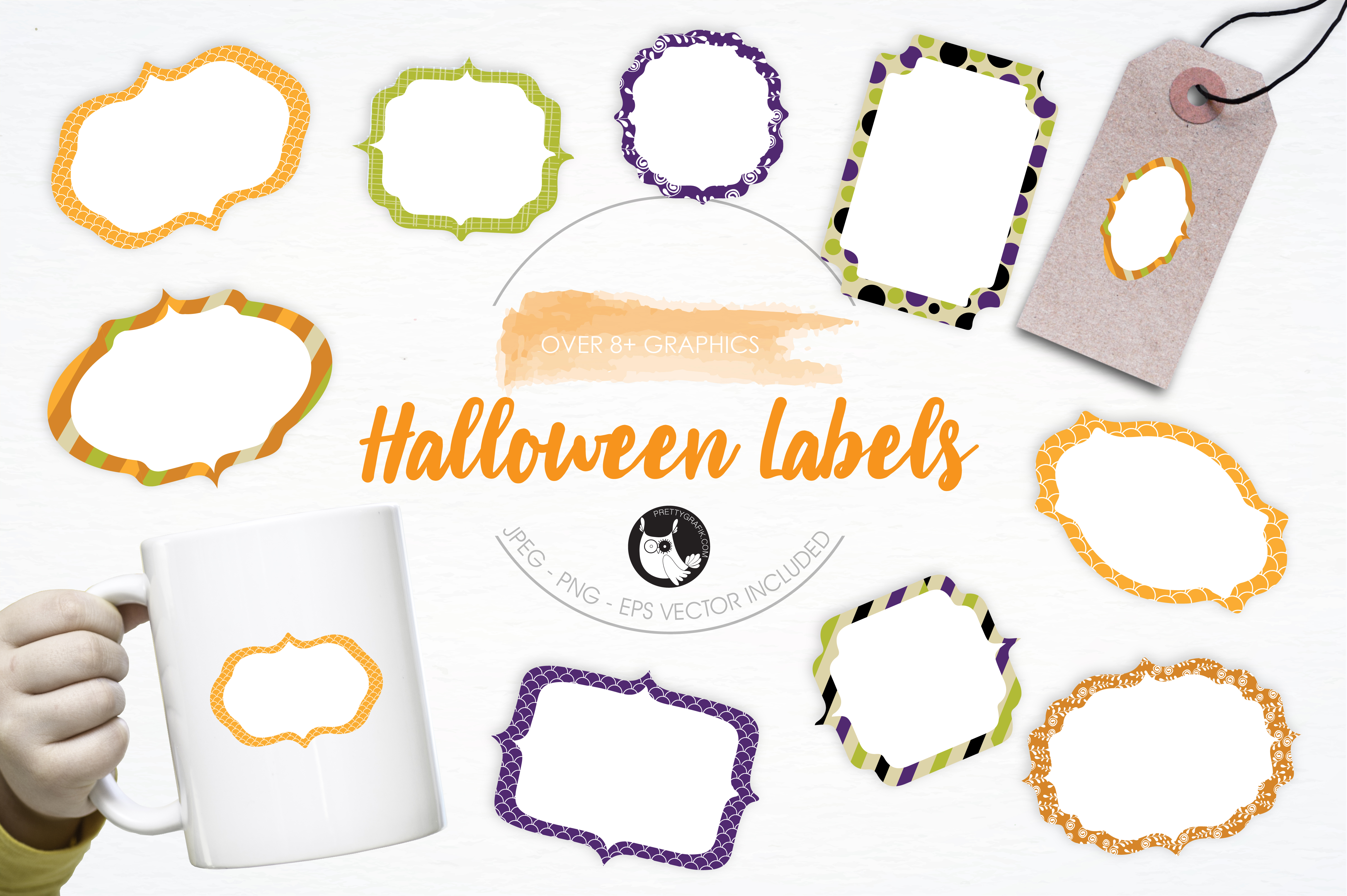 Print on Demand: Halloween Labels Graphic Illustrations By Prettygrafik
