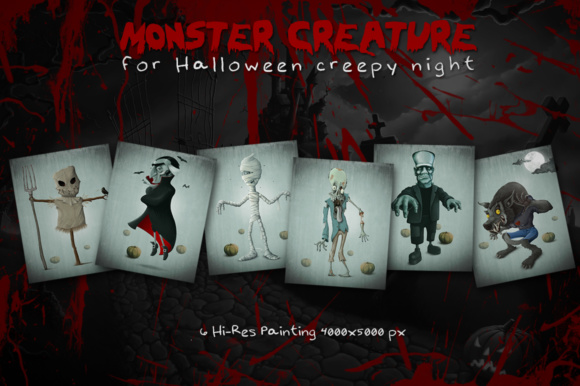 Download Free Halloween Monster Creature Graphic By Giordanoaita Creative for Cricut Explore, Silhouette and other cutting machines.