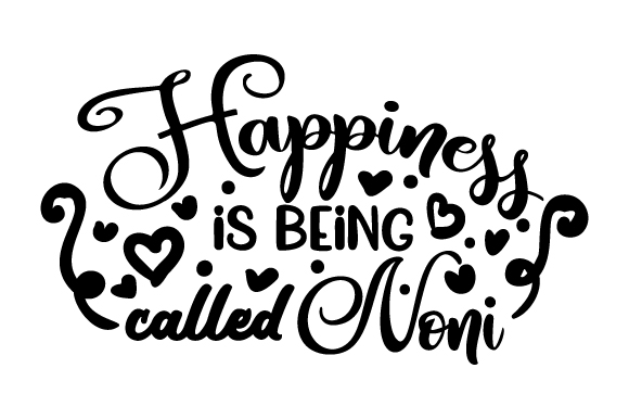 Download Free Happiness Is Being Called Noni Svg Cut File By Creative Fabrica for Cricut Explore, Silhouette and other cutting machines.