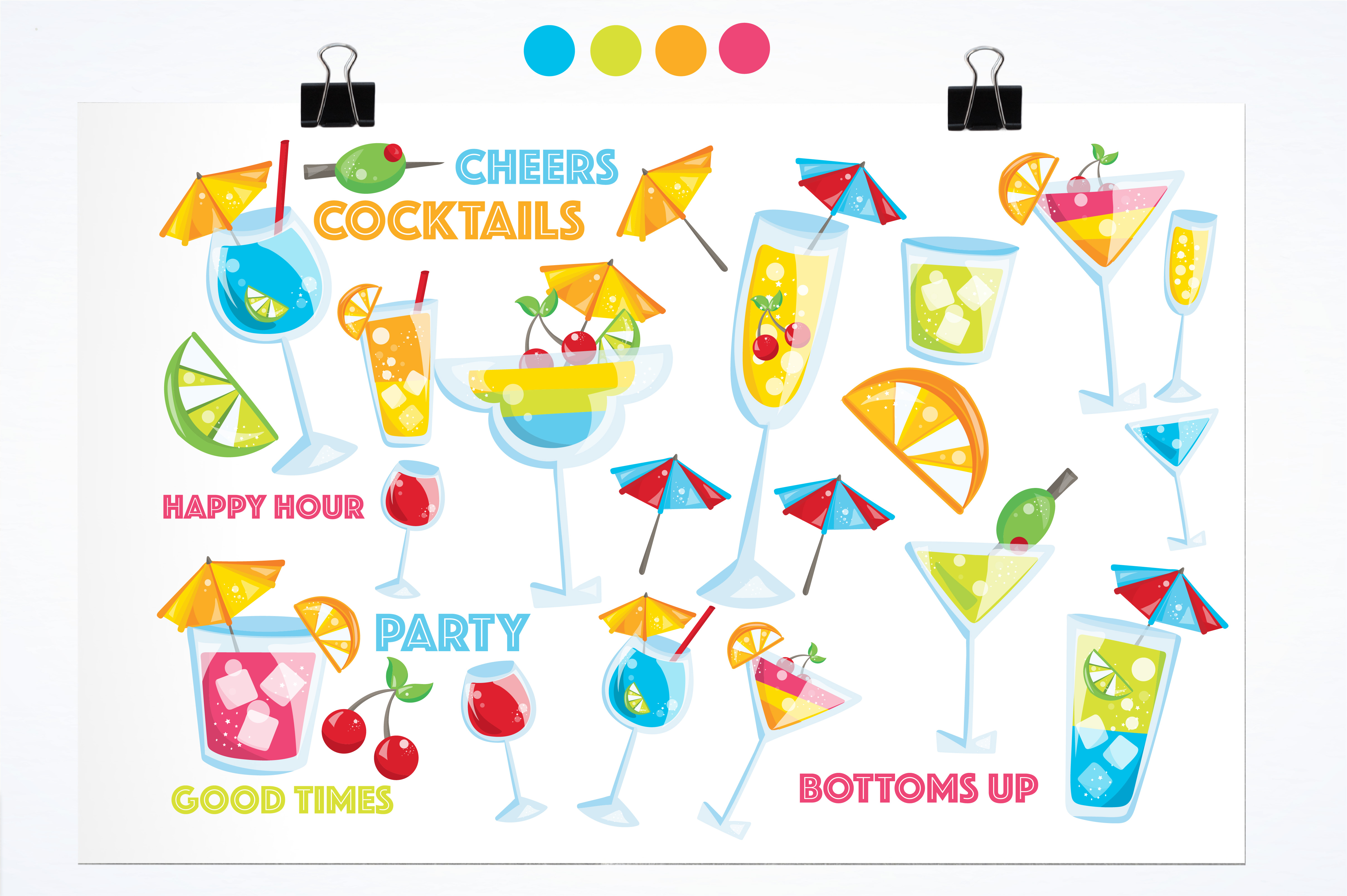 Print on Demand: Happy Hour Graphic Illustrations By Prettygrafik - Image 2