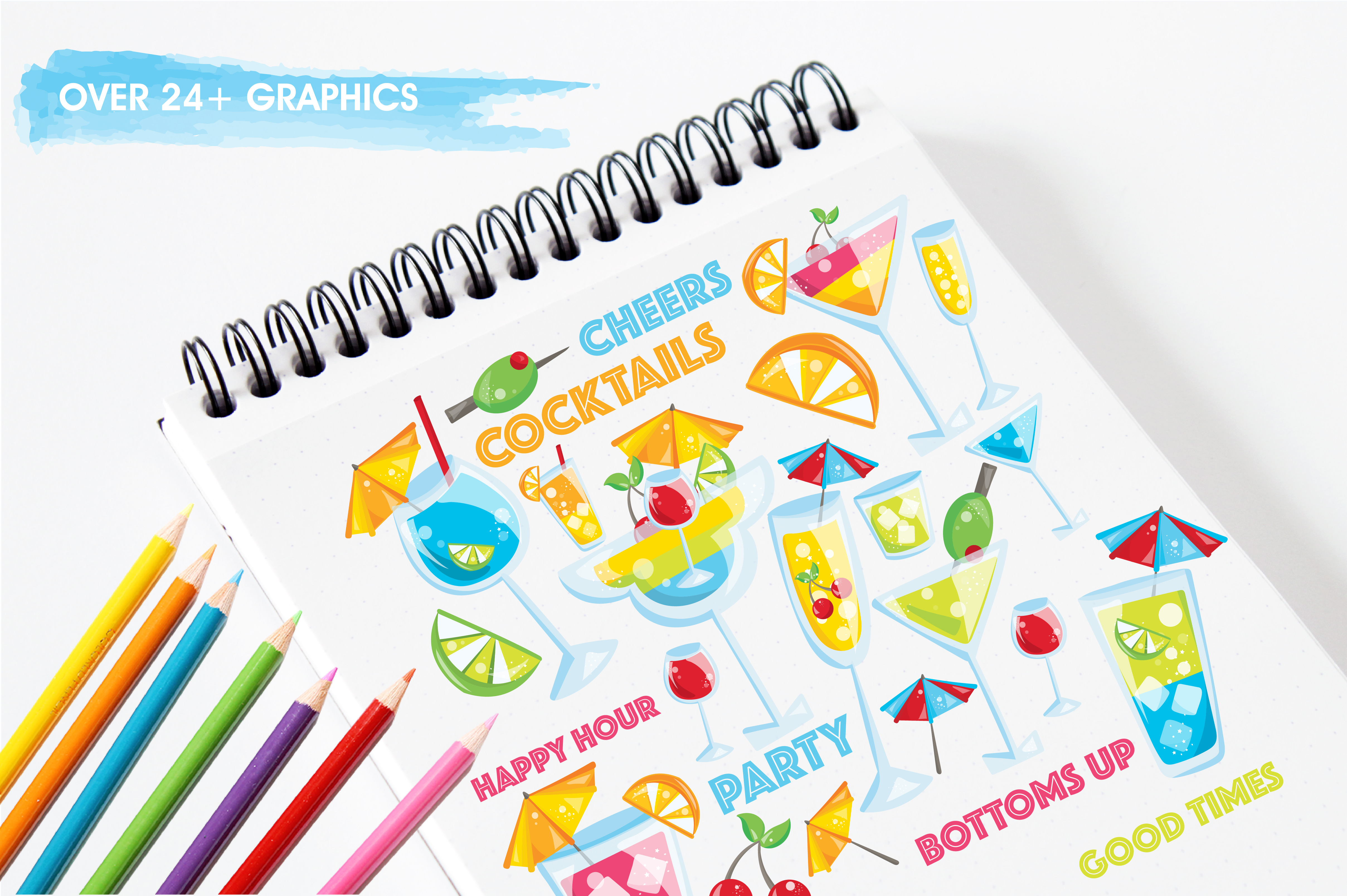 Print on Demand: Happy Hour Graphic Illustrations By Prettygrafik - Image 3