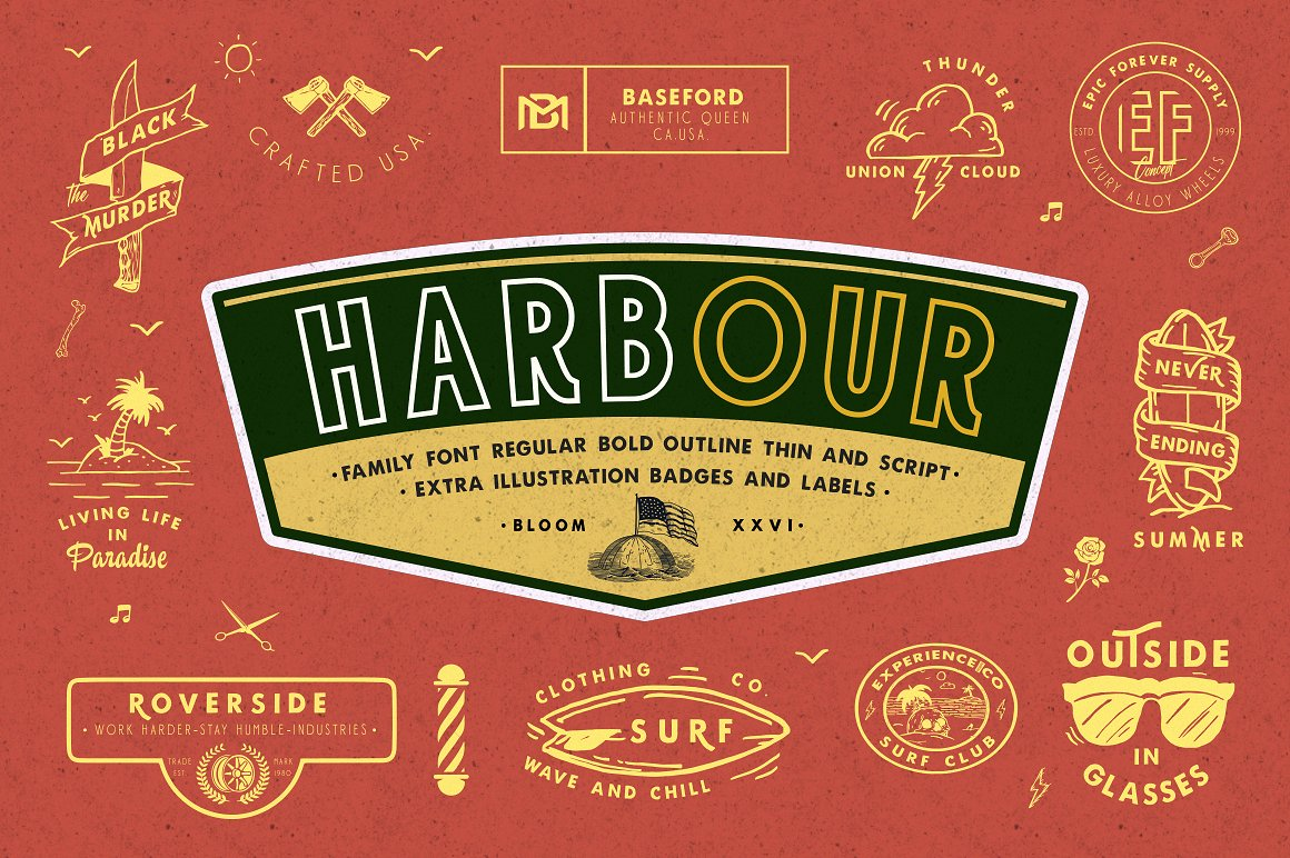 Print on Demand: Harbour Display Font By bloomxxvi
