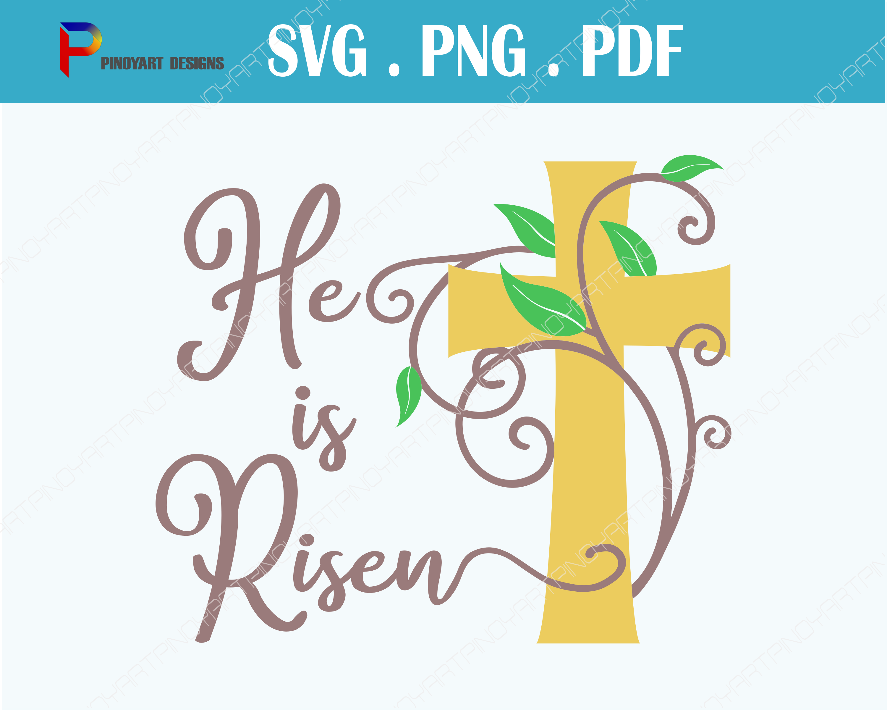 He is Risen Svg, Jesus Svg, Jesus Christ Svg, Christmas Svg. Christmas Svg File, Jesus Svg File, Svg, Svg Files for Cricut Graphic Crafts By Pinoyartkreatib