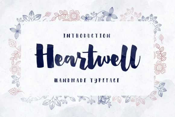 Print on Demand: Heartwell Display Font By flavortype