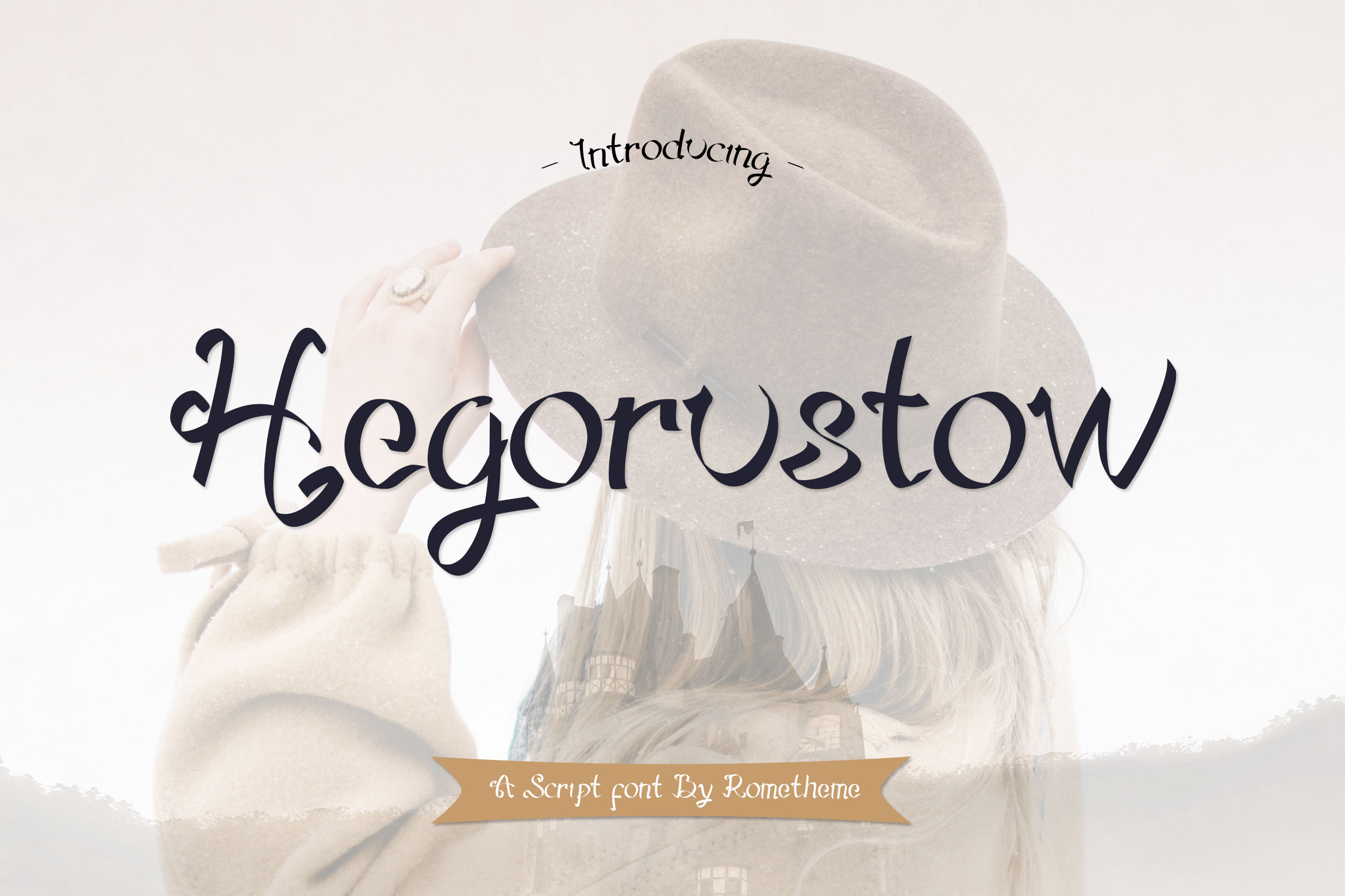 Print on Demand: Hegorustow Display Font By rometheme