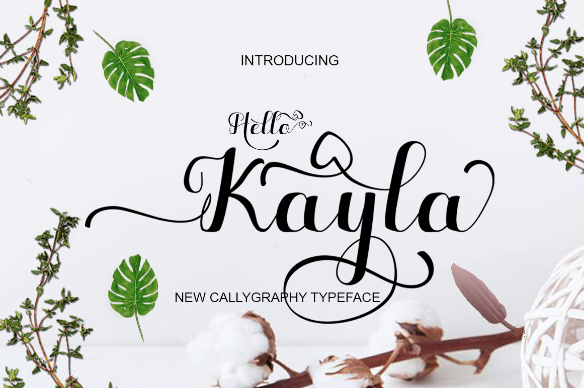Print on Demand: Hello Kayla Script & Handwritten Font By bbakey