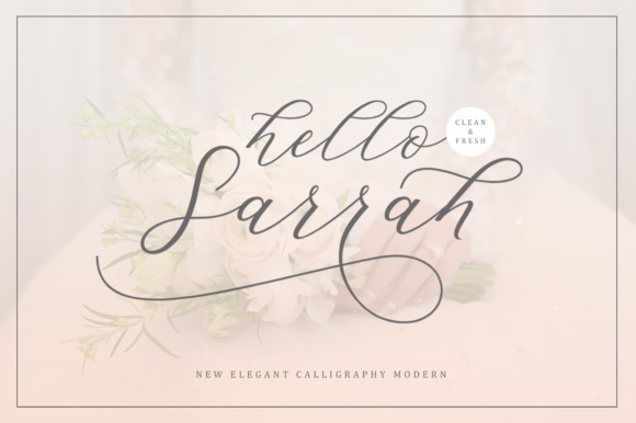 Print on Demand: Hello Sarrah Script & Handwritten Font By Musafir LAB