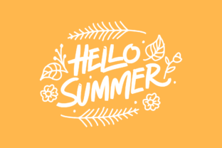 Hello Summer Typography Graphic By herbanuts