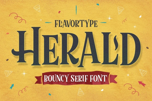 Print on Demand: Herald Display Font By flavortype