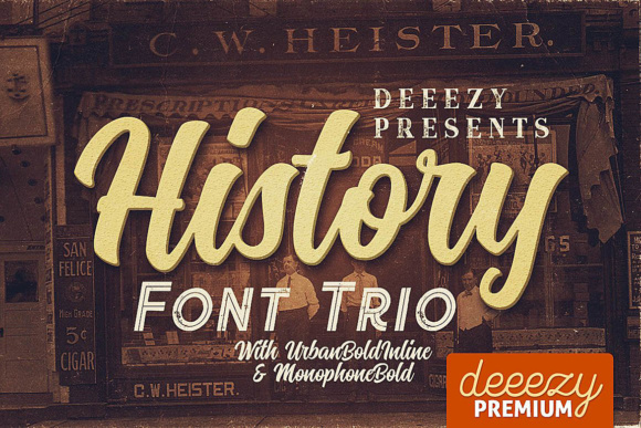 Print on Demand: History Script & Handwritten Font By JumboDesign