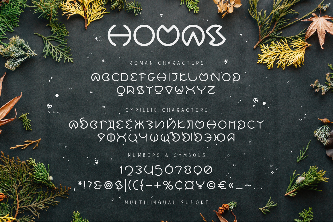 Print on Demand: Homas Display Font By ChekArt - Image 5