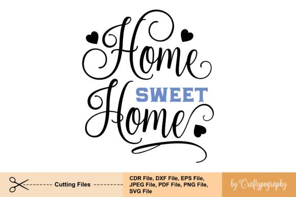 Home De home home graphic by craftypography creative fabrica