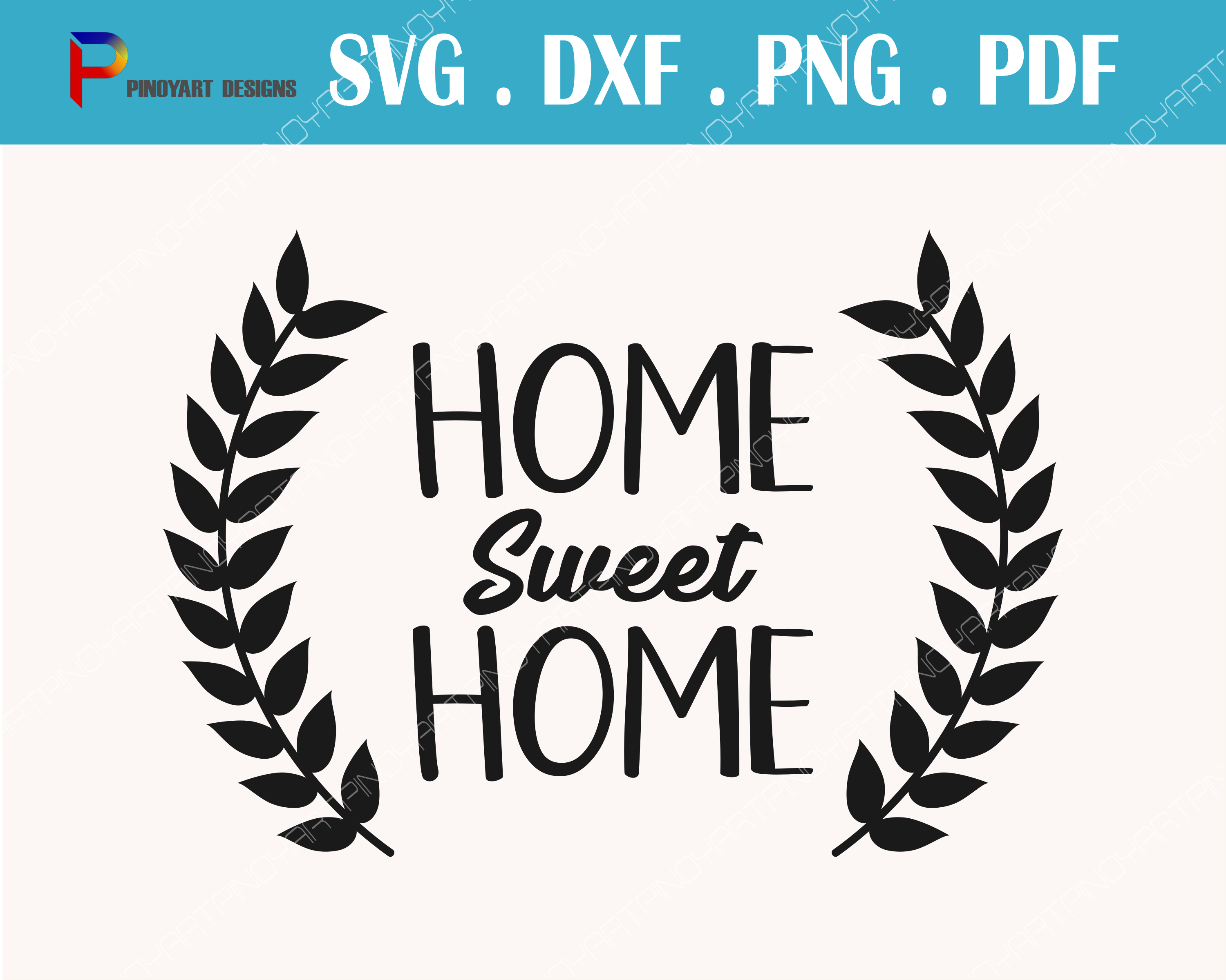 Home Sweet Home Svg, Home Svg, Home Svg File, Family Svg, Svg, Svg Files for Cricut Graphic Crafts By Pinoyartkreatib