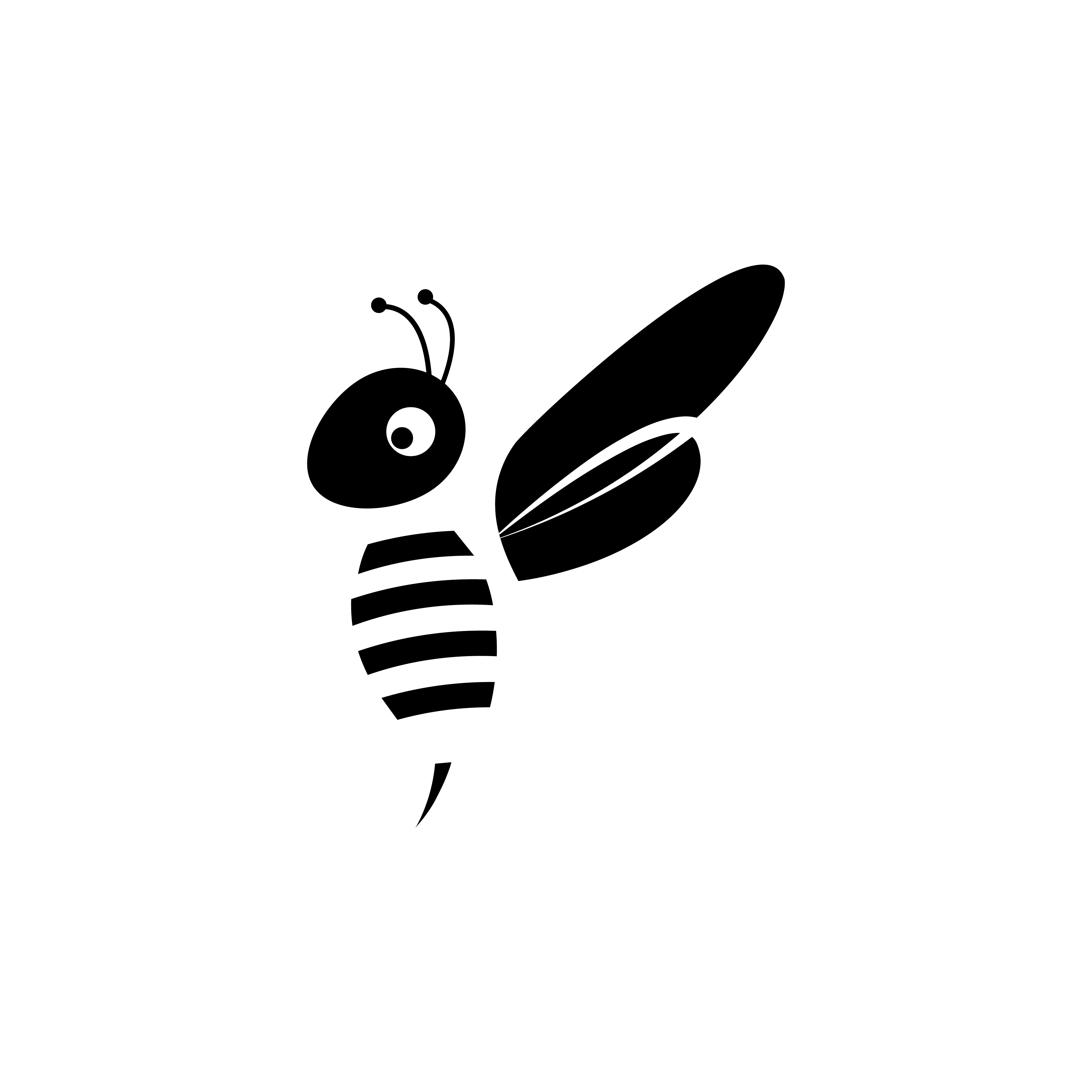 Print on Demand: Honey Bee Silhouettes Graphic Logos By sabavector