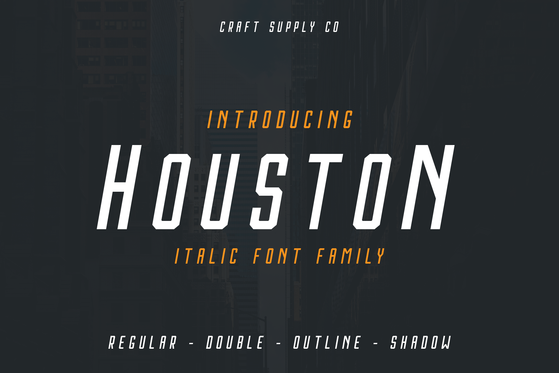 Print on Demand: Houston Italic Sans Serif Font By craftsupplyco - Image 1