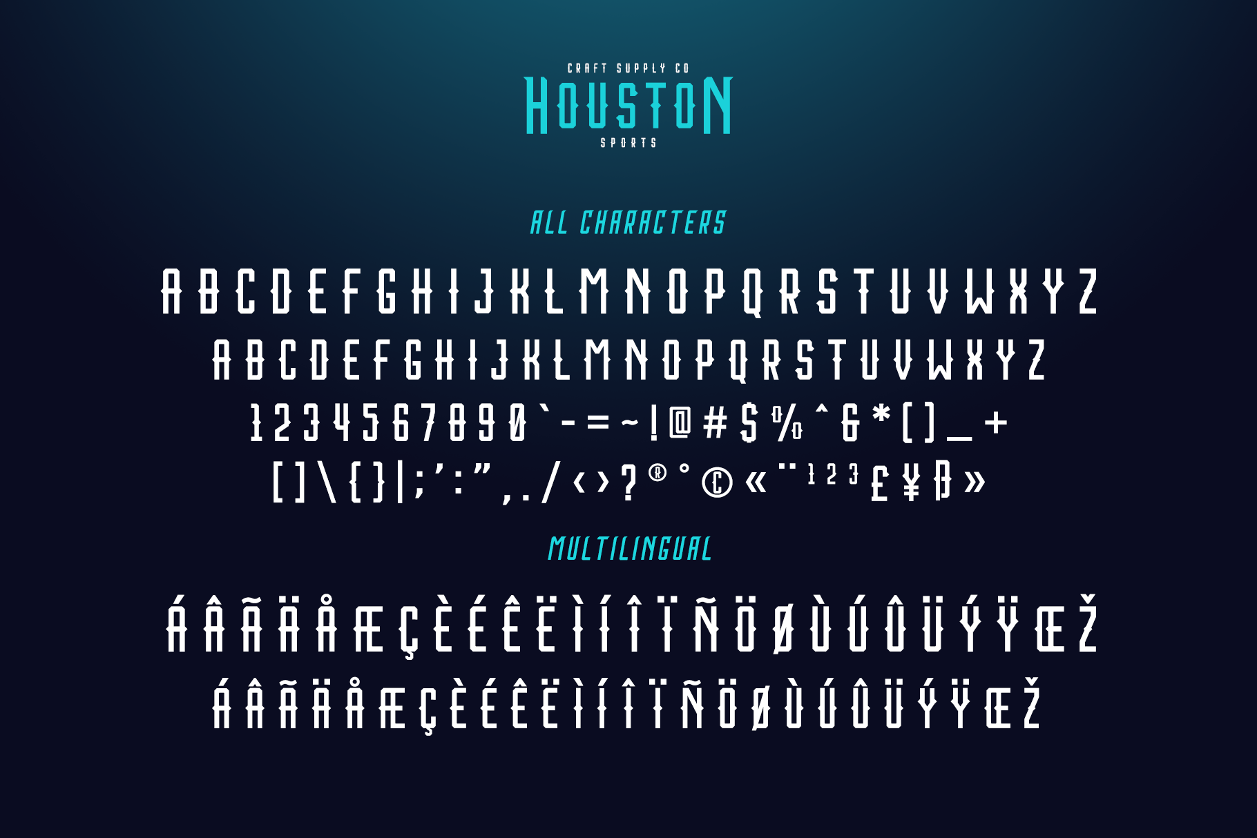Print on Demand: Houston Sports Display Font By craftsupplyco - Image 4