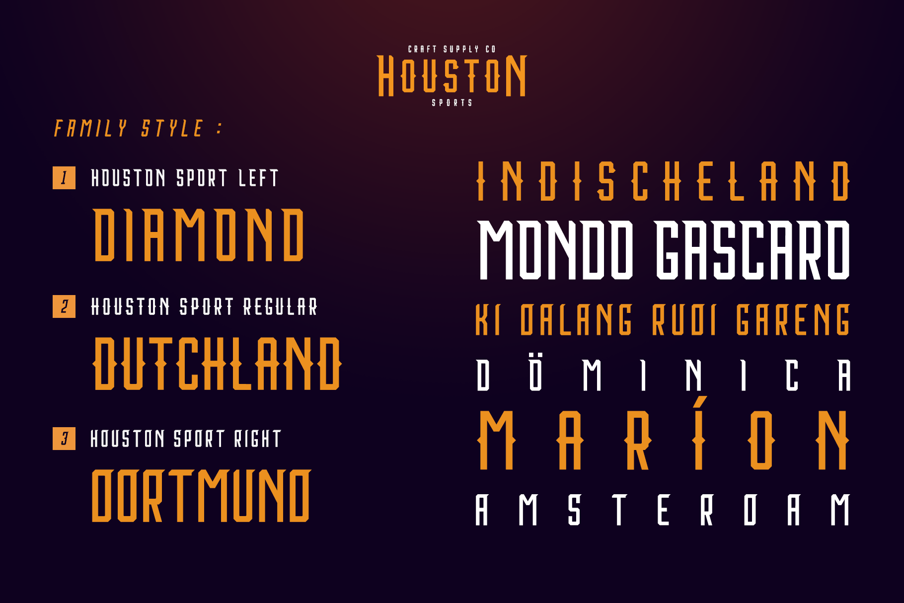 Print on Demand: Houston Sports Display Font By craftsupplyco - Image 5