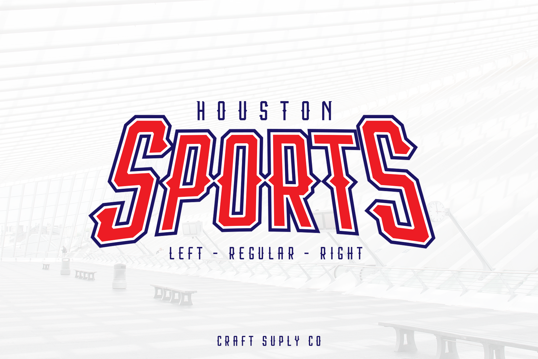 Print on Demand: Houston Sports Display Font By craftsupplyco - Image 1