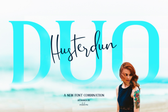 Print on Demand: Husterdun Script & Handwritten Font By motokiwo