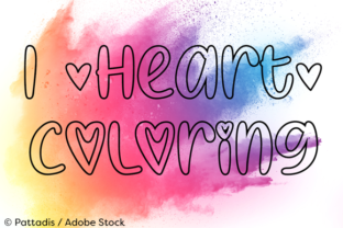 I Heart Coloring Font By Misti