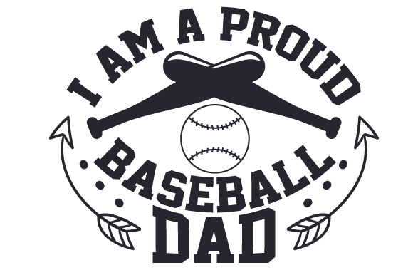 I Am A Proud Baseball Dad Svg Cut File By Creative Fabrica