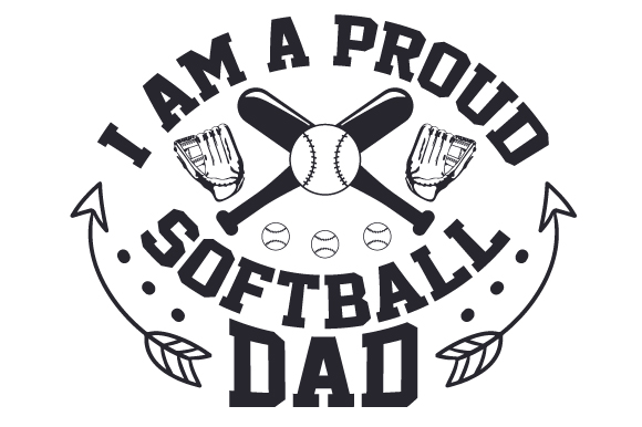 Download Free I Am A Proud Softball Dad Svg Cut File By Creative Fabrica for Cricut Explore, Silhouette and other cutting machines.