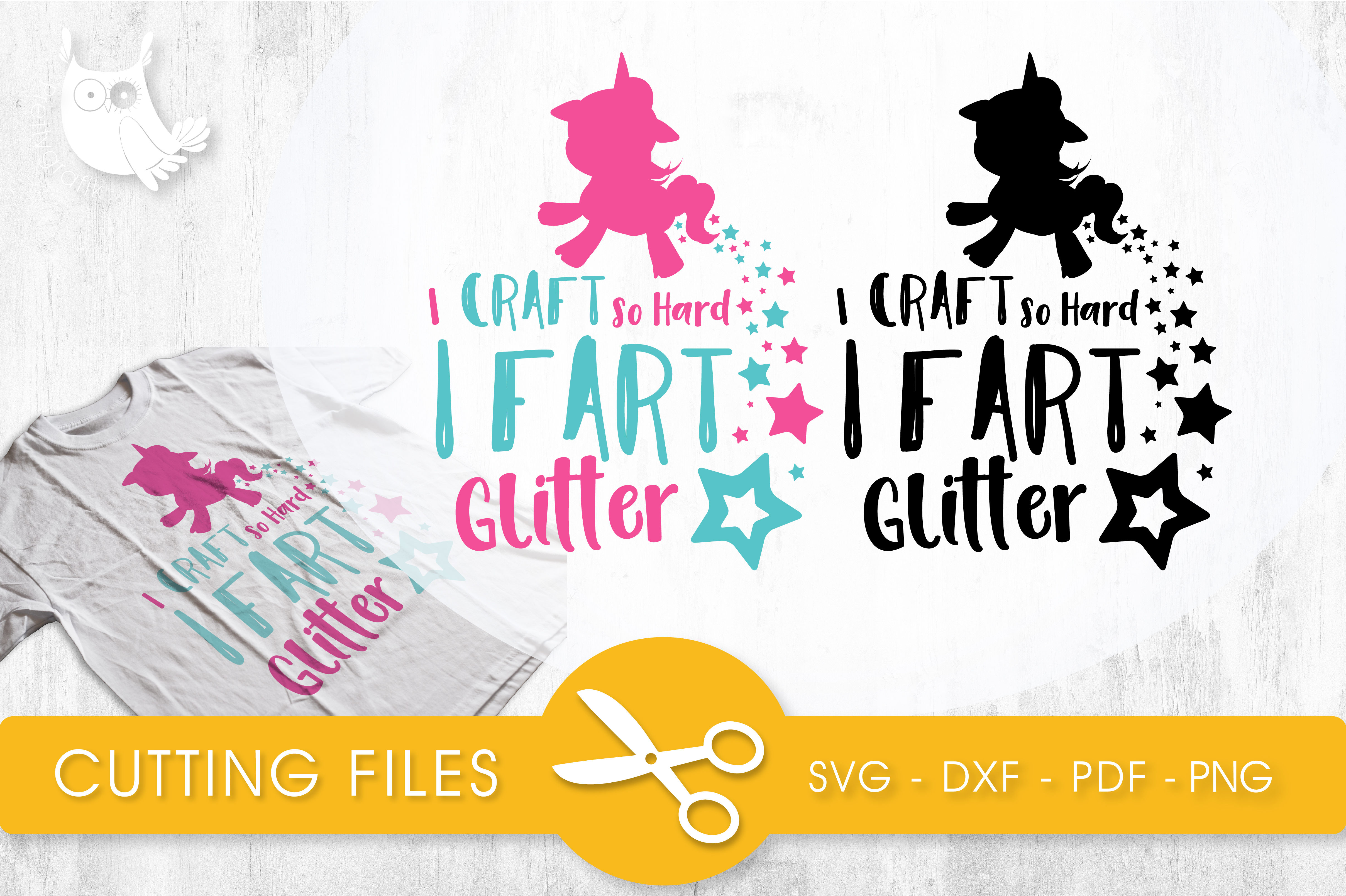 Download Free I Craft So Hard I Fart Glitter Graphic By Prettycuttables for Cricut Explore, Silhouette and other cutting machines.