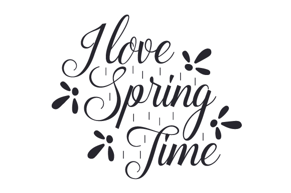 Download Free I Love Spring Time Svg Cut File By Creative Fabrica Crafts for Cricut Explore, Silhouette and other cutting machines.